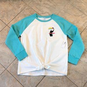 NEW Girls Old Navy Toucan Sweatshirt